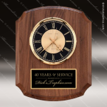 American Walnut Vertical Wall Clock. Wall Clock Plaques