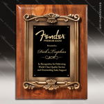 Engraved Walnut Plaque Black Plate Cast Flourish Insert Award Walnut Finish Plaques