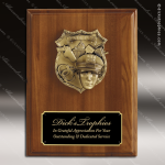 Engraved Walnut Plaque Mounted Police Badge Award Walnut Finish Plaques