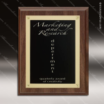 Engraved Walnut Plaque Rosette Award Walnut Finish Plaques