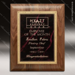 Engraved Walnut Plaque Red Marble Plate Gold Border Award Walnut Finish Plaques