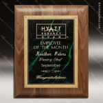 Engraved Walnut Plaque Green Marble Plate Gold Border Award Walnut Finish Plaques