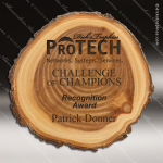 Engraved Rustic Wood Plaque Laser Etched Elm Award Walnut Finish Plaques