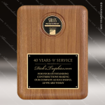 Engraved Walnut Plaque Black Plate Insert Cast Medal Award Walnut Finish Plaques