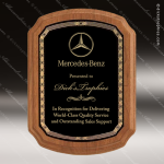 Engraved Walnut Plaque Black Braided Plate Award Walnut Finish Plaques