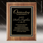 Engraved Walnut Plaque Black Plate Award Walnut Finish Plaques