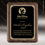 Engraved Walnut Plaque Black Round Corner Plate Award Walnut Finish Plaques
