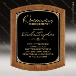 Engraved Walnut Plaque Elliptical Edge Black Plate Wall Plaque Award Walnut Finish Plaques