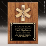 Engraved Walnut Plaque EMT Emergency Medical Casting Wall Placard Award Walnut Finish Plaques