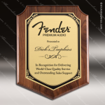 Engraved Walnut Plaque Gold Plate Shield Border Award Walnut Finish Plaques
