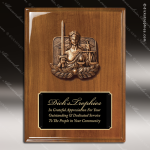 Engraved Walnut Plaque Lady Justice Black Plate Cast Award Walnut Finish Plaques