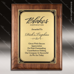 Engraved Walnut Plaque Gold Plate Gold Border Wall Placard Award Walnut Finish Plaques