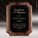 Engraved Walnut Plaque Black Plate Scallop Edge Wall Placard Award Walnut Finish Plaques