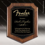 Engraved Walnut Plaque Black Plate Shield Border Wall Placard Award Walnut Finish Plaques