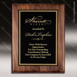 Engraved Walnut Plaque Black Plate Gold Border Award Walnut Finish Plaques