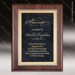 Engraved Walnut Plaque Black Marble Plate Gold Border Wall Placard Award Walnut Finish Plaques