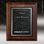 Engraved Walnut Plaque Silver Recessed Zinc Plate Award Walnut Finish Plaques