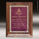 Corporate Walnut Plaque Burgundy Marble Presidential Edge Wall Placard Awar Walnut Finish Plaques