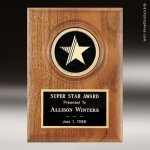 Walnut Star Plaque Walnut Finish Plaques