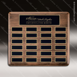 The Trinidad Walnut Perpetual Plaque  24 Black Plates Walnut Perpetual Plaques
