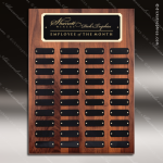 The Mercarda Walnut Perpetual Plaque  40 Black Plates Walnut Perpetual Plaques