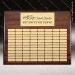 The Mellado Walnut Perpetual Plaque  96 Gold Plates Walnut Perpetual Plaques