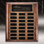 The Melzeo Walnut Piano Finish Perpetual Plaque  24 Black Plates Walnut Piano Finish Perpetual Plaques