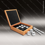 Engraved Whiskey Stone 9 Piece Stainless Steel Laser Etched Gift Set Whiskey Stone Sets