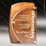 Acrylic Wood Accented Artisan Rustic Brown Alder Wood Trophy Award Wood Accented Acrylic Awards