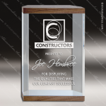Acrylic Wood Accented Rectangle Banded Capri Trophy Award Wood Accented Acrylic Awards