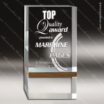 Acrylic Wood Accented Free Standing Rectangle Walnut Band Trophy Award Wood Accented Acrylic Awards