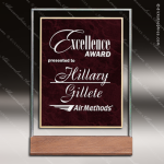 Acrylic Red Accented Marble Award Wood Accented Acrylic Awards