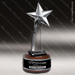 Crystal Wood Accented Optic Starlet Tower Trophy Award Wood Accented Crystal Awards
