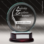 Macareno Orbit Glass Rosewood Accented Circle Trophy Award Wood Accented Glass Awards