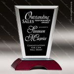 Tacloban Pinch Glass Rosewood Accented Flair Rectangle Trophy Award Wood Accented Glass Awards