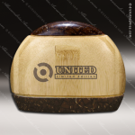 Wood Accented Circle Aspen Trophy Award Wood Accented Trophy Awards
