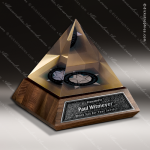 Wood Accented Pyramid Fruition Trophy Award Wood Accented Trophy Awards