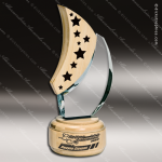 Wood Accented Star Natura Moon Trophy Award Wood Accented Trophy Awards