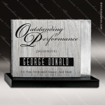 Wood Silver Accented Rectangle Themis Trophy Award Wood Accented Trophy Awards