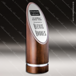 Wood Silver Accented Oval Positano Trophy Award Wood Accented Trophy Awards