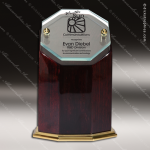 Wood Gold Accented Octagon Colonnade III Trophy Award Wood Accented Trophy Awards