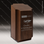 Wood Accented Rectangle Medallion Pedestal Trophy Award Wood Accented Trophy Awards