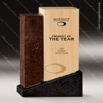 Wood Accented Rectangle Natura Unity Trophy Award Wood Accented Trophy Awards
