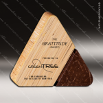 Wood Accented Triangle Natura Serene Trophy Award Wood Accented Trophy Awards