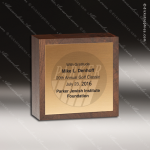 Wooden Square Simple Cube Trophy Award Wood Awards