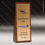 Wooden Rectangle Wedge Tower Trophy Award Wood Awards