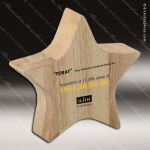 Wooden Simple Star Trophy Award Wood Awards