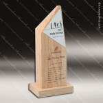 Wooden Rectangle New York Tower Trophy Award Wood Awards