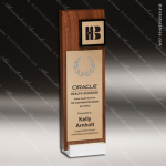 Wooden Rectangle Simple BB Tower II Trophy Award Wood Awards