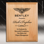 Engraved Red Alder Plaque Laser Etched Wall Placard Award Wood Awards